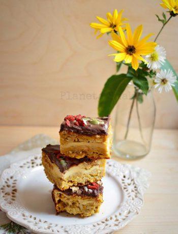 owsiane ciasto z dynią i serem