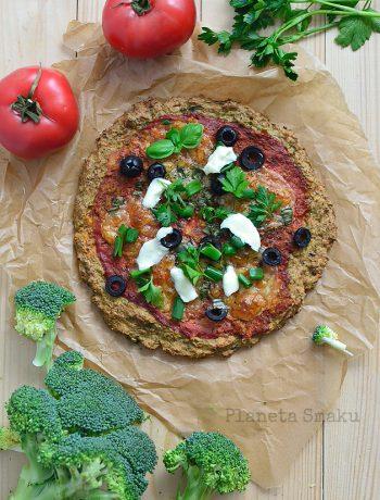 pizza na brokułowym spodzie