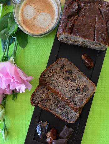 chlebek daktylowo-banaowy z czekoladą
