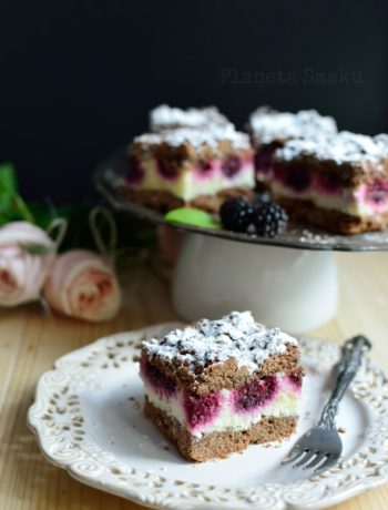 kruche ciasto z jeżynami